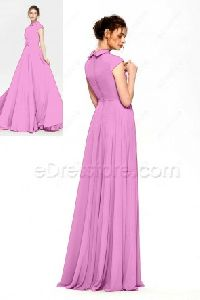 Cotton fabric plain work gown