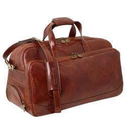Brown Leather Luggage Bag