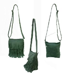 Leather Fringe Sling Bag