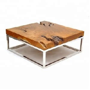 wood square Coffee Table