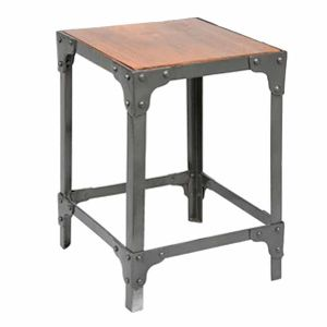 Iron Reclaimed Wood Stool