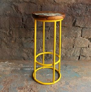 Wood Top Bar Kitchen Stool