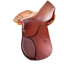 Double Coloured Square cantle jumping leather english saddle