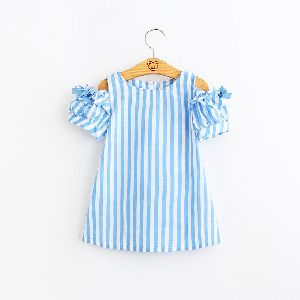 Girls Striped Frocks