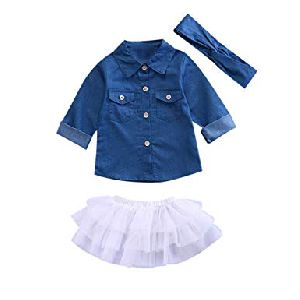 Kids Top & Skirt Set