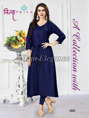 1002 Nityapriya Collection Rayon Kurti