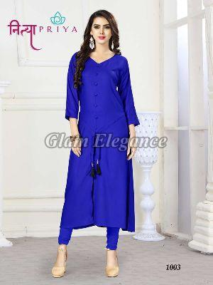 1003 Nityapriya Collection Rayon Kurti