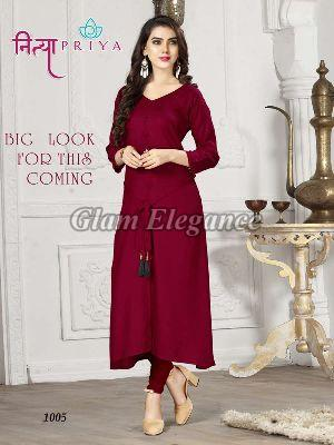 1005 Nityapriya Collection Rayon Kurti