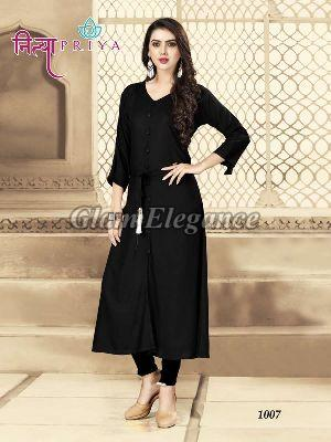1007 Nityapriya Collection Rayon Kurti