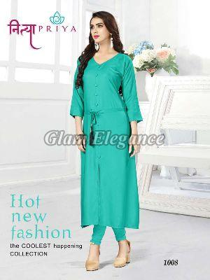 1008 Nityapriya Collection Rayon Kurti