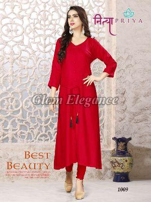1009 Nityapriya Collection Rayon Kurti