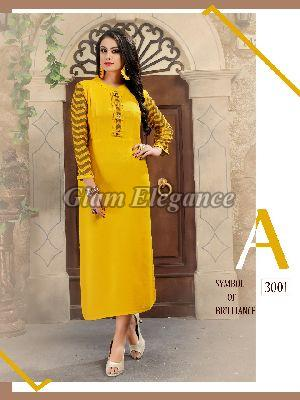 3001 Swaraa Collection Rayon Cotton Kurti