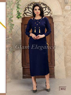 3002 Swaraa Collection Rayon Cotton Kurti