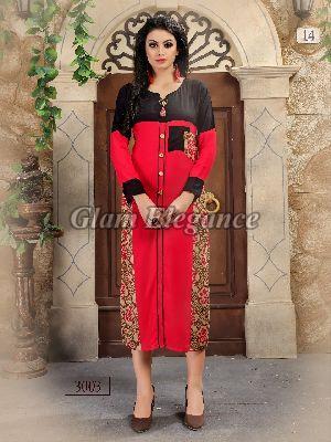 3003 Swaraa Collection Rayon Cotton Kurti