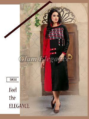 3004 Swaraa Collection Rayon Cotton Kurti