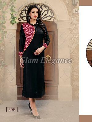 3005 Swaraa Collection Rayon Cotton Kurti