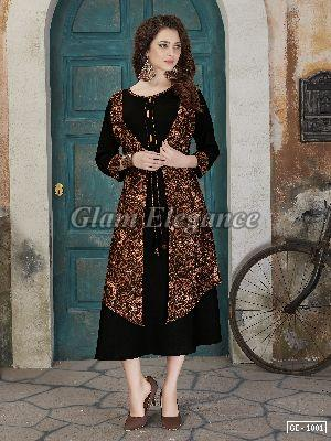 GE-1001 GLAM VOL-1 Rayon Cotton Kurti