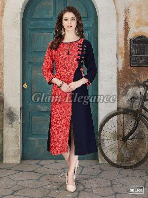 GE-1002 GLAM VOL-1 Rayon Cotton Kurti