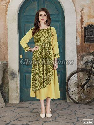 GE-1003 GLAM VOL-1 Rayon Cotton Kurti