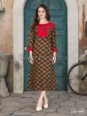 GE-1004 GLAM VOL-1 Rayon Cotton Kurti