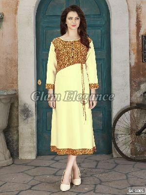 GE-1005 GLAM VOL-1 Rayon Cotton Kurti