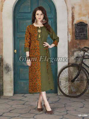 GE-1006 GLAM VOL-1 Rayon Cotton Kurti