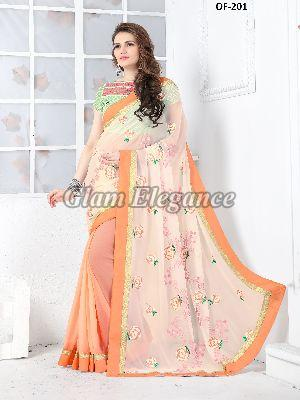 OF-201 Rubyza-7 Georegette Sarees