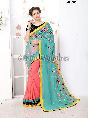 OF-207 Rubyza-7 Georegette Sarees