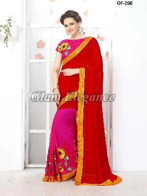 OF-208 Rubyza-7 Georegette Sarees