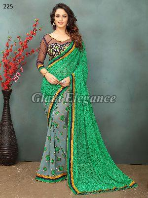 OF225_1 Rubyza-2 Georegette Sarees