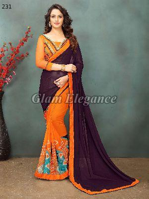 OF231_1 Rubyza-2 Georegette Sarees