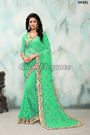 OF291_1 Rubyza Hit Color Designer Sarees