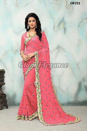 OF291_3 Rubyza Hit Color Designer Sarees