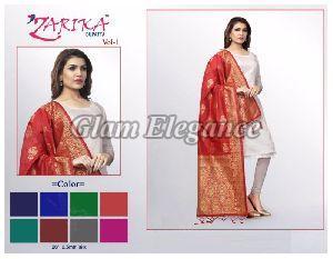 Zarika VOL-1 Silk Dupatta 01