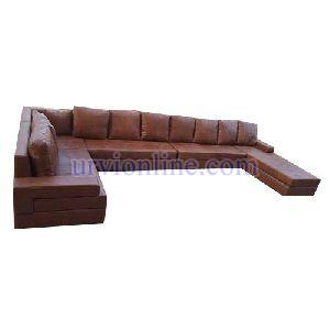 Plain Stylish Leather Sofa