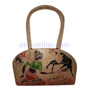 Printed Ladies Leather Bag