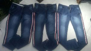 Mens Blue Non Denim Jeans