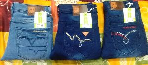 Mens Narrow Bottom Non Denim Jeans