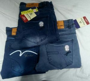 Mens Relaxed Fit Non Denim Jeans