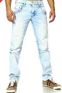 Mens Ripped Denim Jeans