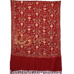 Kashmiri Designer Red Shawl