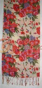 Wool Flower Printed Shawl