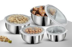 4 Pc Storage Set with See Thorugh Lids