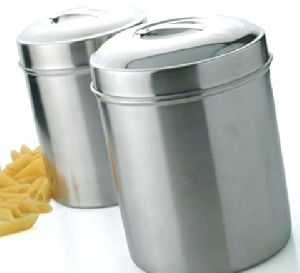 Canisters with Steel Covers