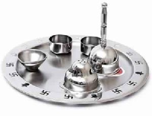 Stainless Steel Pooja Thali Set