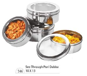 Puri Dabba with Glass Lids