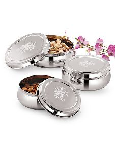 Puri Dabba with Steel Covers