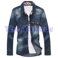 Men Denim Slim Fit Shirt