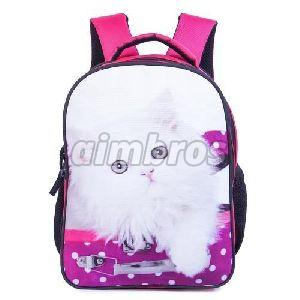 Girls Polyester School Bag