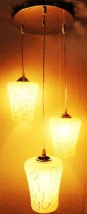 2188-C Yellow Hanging Lamp